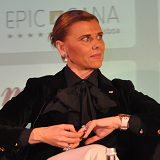 Christina Pinto Dias speaking at Rail Experience Europe 2014